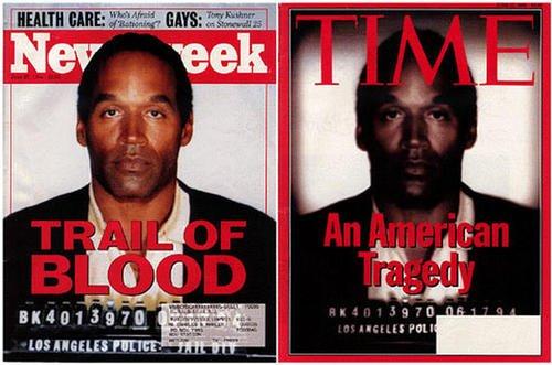 Il virus della manipolazione, copertina di TIME del processo ad OJ SIMPSON