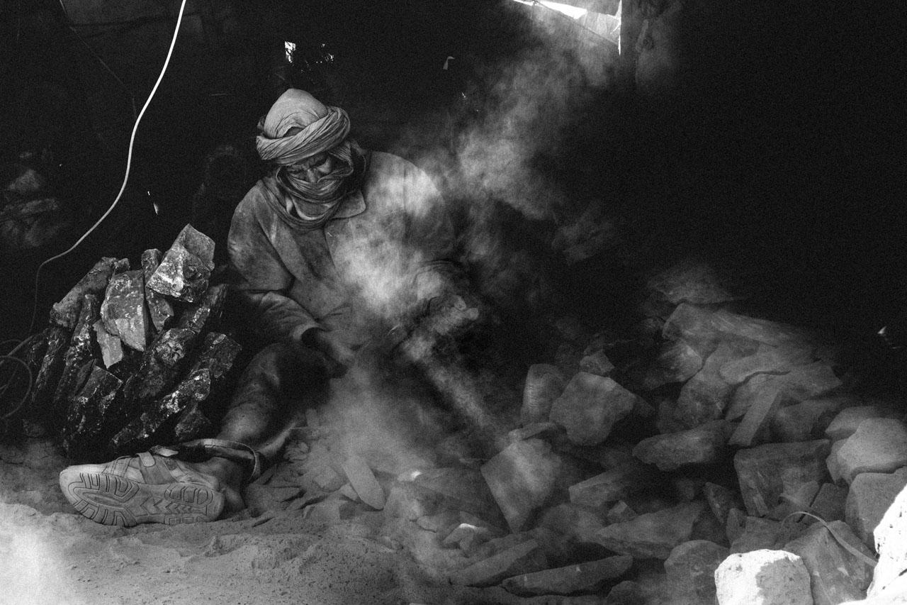 I lavoratori di fossili di Erfoud